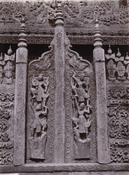 Door and railing of [Shwenandaw] kyaung, [Mandalay]